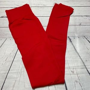 Zenana Outfitters Ruby Red Leggings